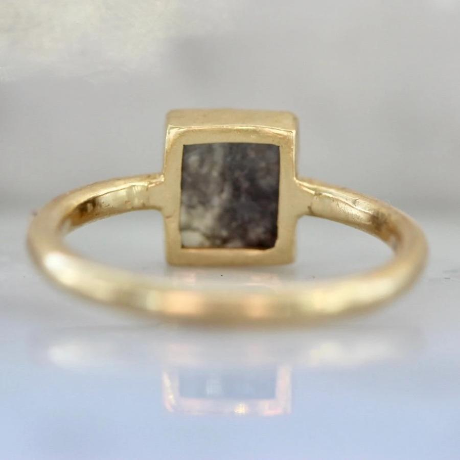Sonder Fine Jewelry Ring Clio Rectangle Salt & Pepper Rose Cut Diamond Ring