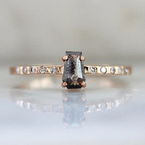 Sonder Fine Jewelry Ring Erato Salt & Pepper Rose Cut Baguette Diamond Ring