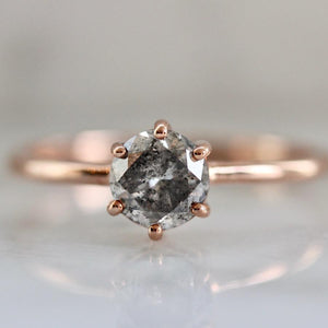 Sonder Fine Jewelry Ring Gaia Salt & Pepper Round Cut Diamond