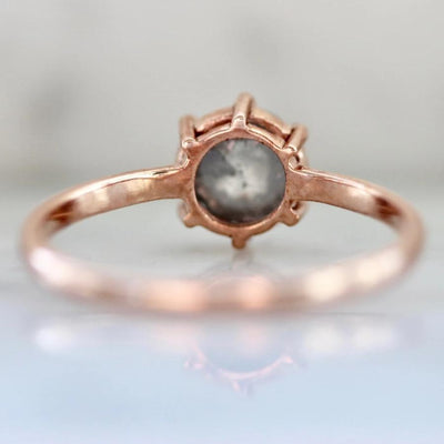 Sonder Fine Jewelry Ring Melia Salt & Pepper Rose Cut Diamond Ring