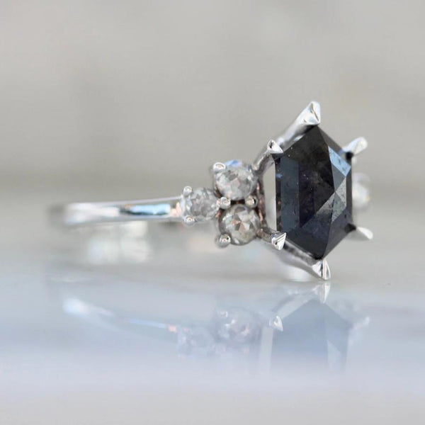 Sonder Fine Jewelry Ring Selene Black Hexagon Cut Diamond Ring