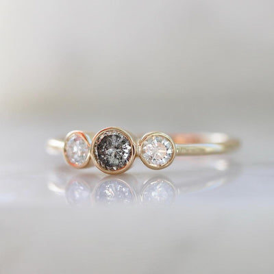 Vale Jewelry Ring Othello Salt & Pepper Diamond Ring