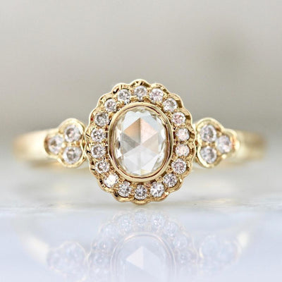 Vivaan Ring Lola Rose Cut & Rose Gold Diamond Ring