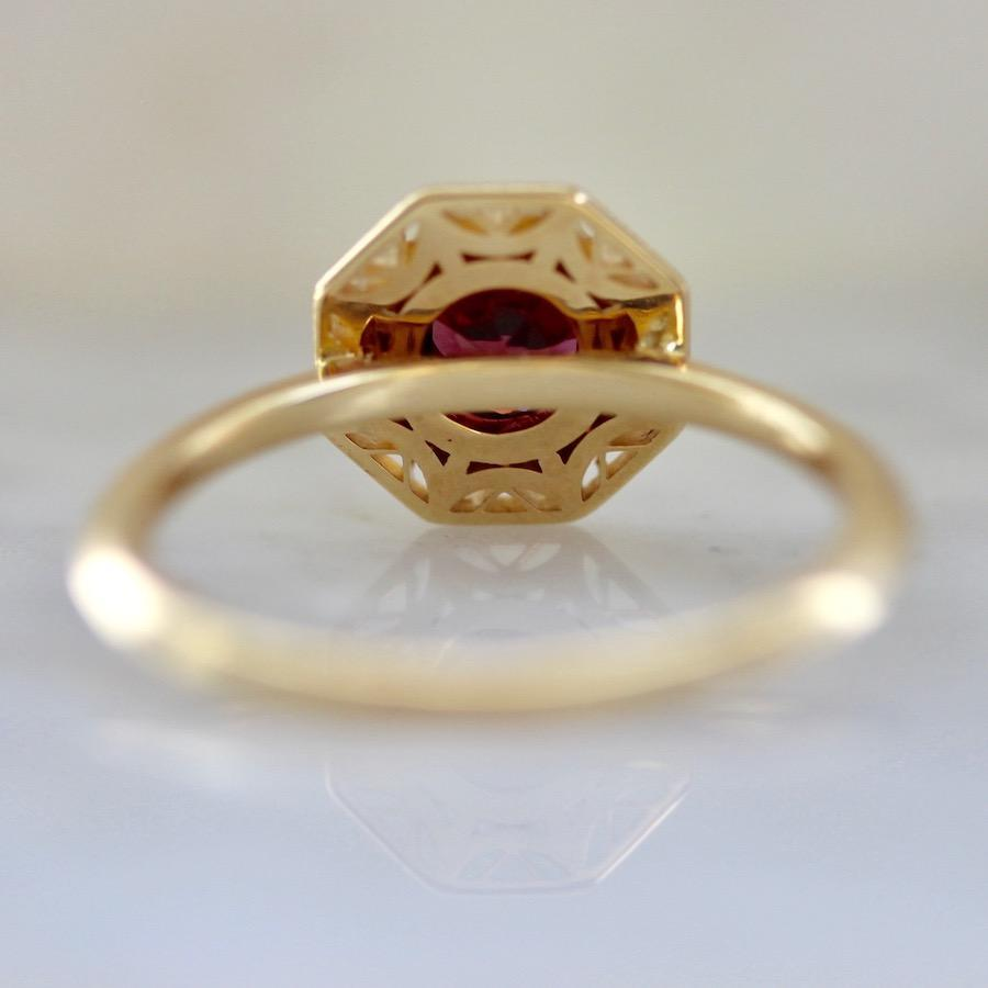 Viviana Langhoff Collection Ring Ladybug Garnet & Gold Ring