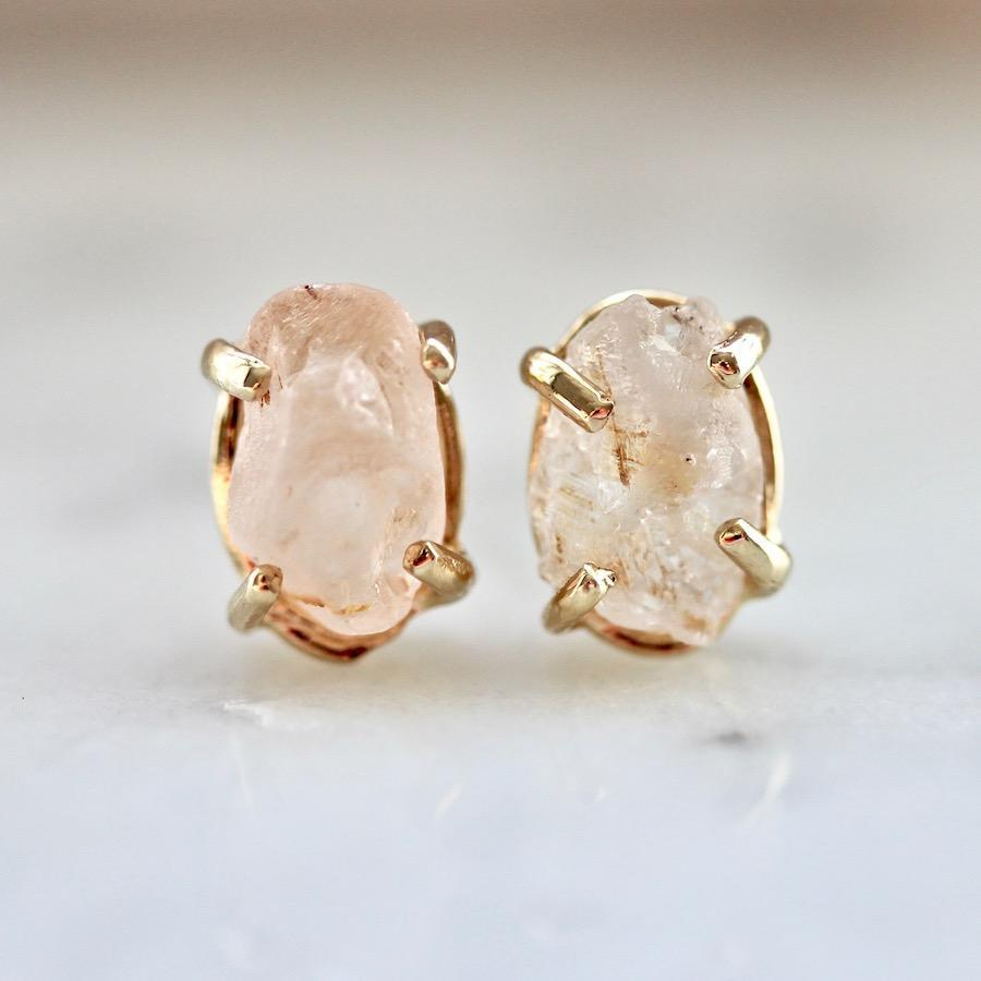 Yuliya Chorna Ring Natural Pink Sapphire Earrings