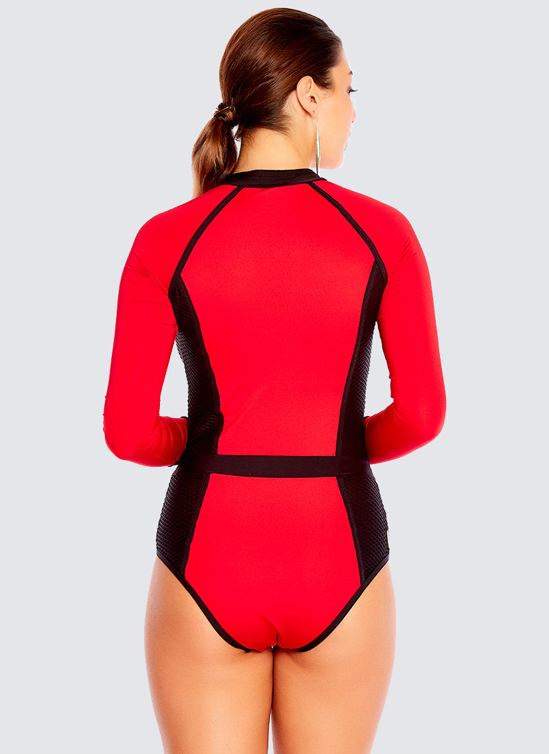 Back To Basics Sportopia One Piece - Crimson
