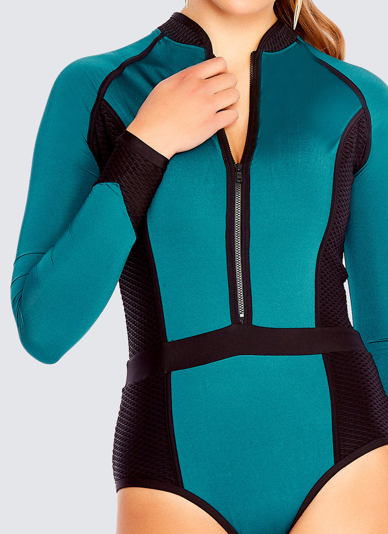 Back To Basics Sportopia One Piece - Jade