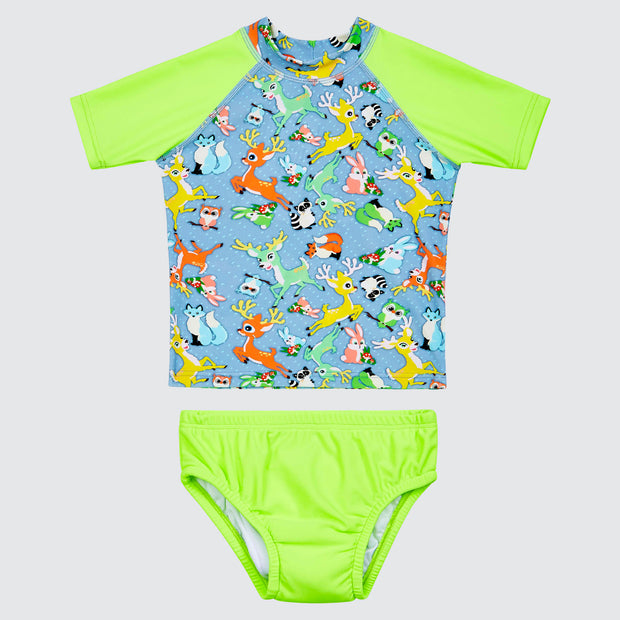 Forest Adventures Rashie and Swim Nappy Set