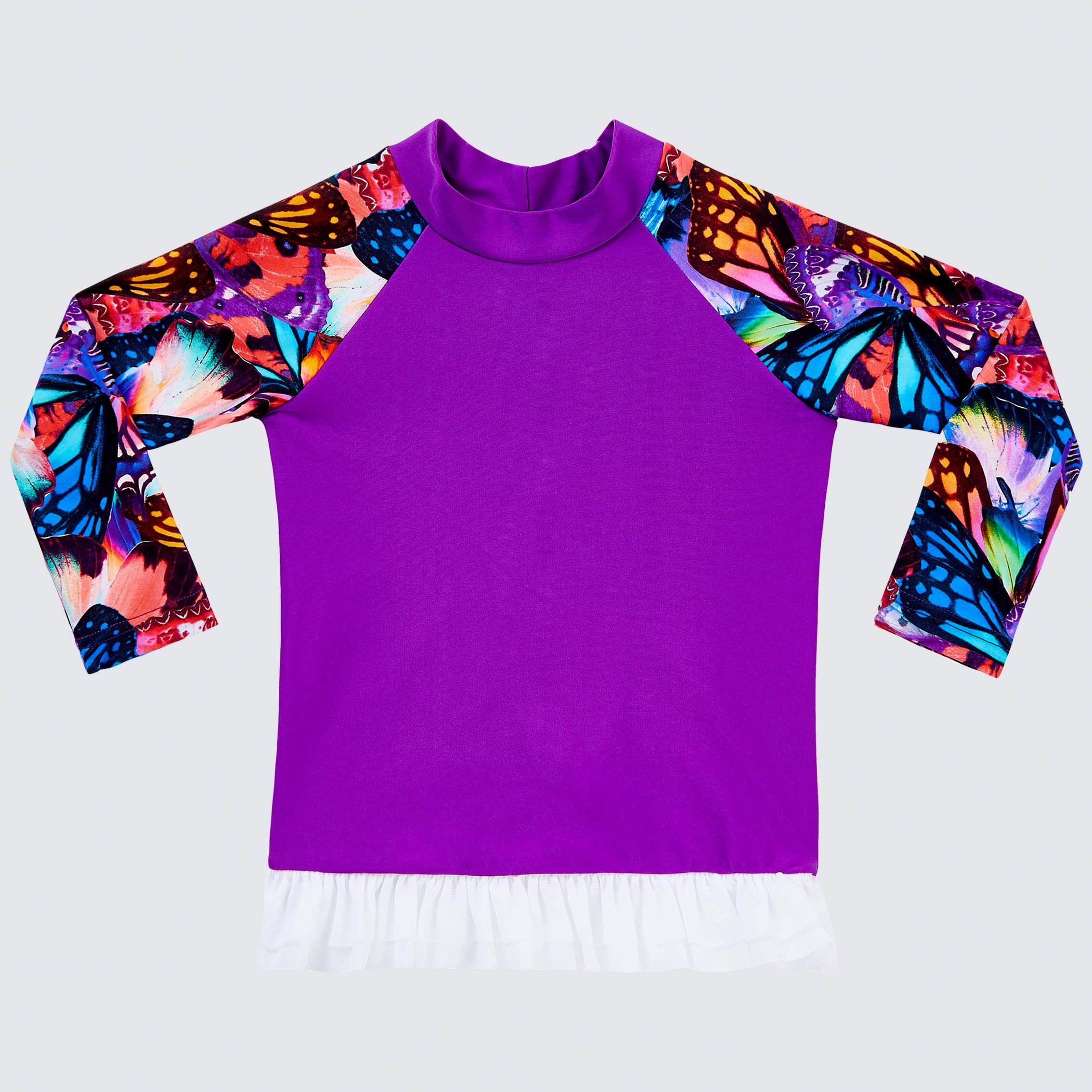Flutter Long Sleeve Tutu Rash Vest (00-2)