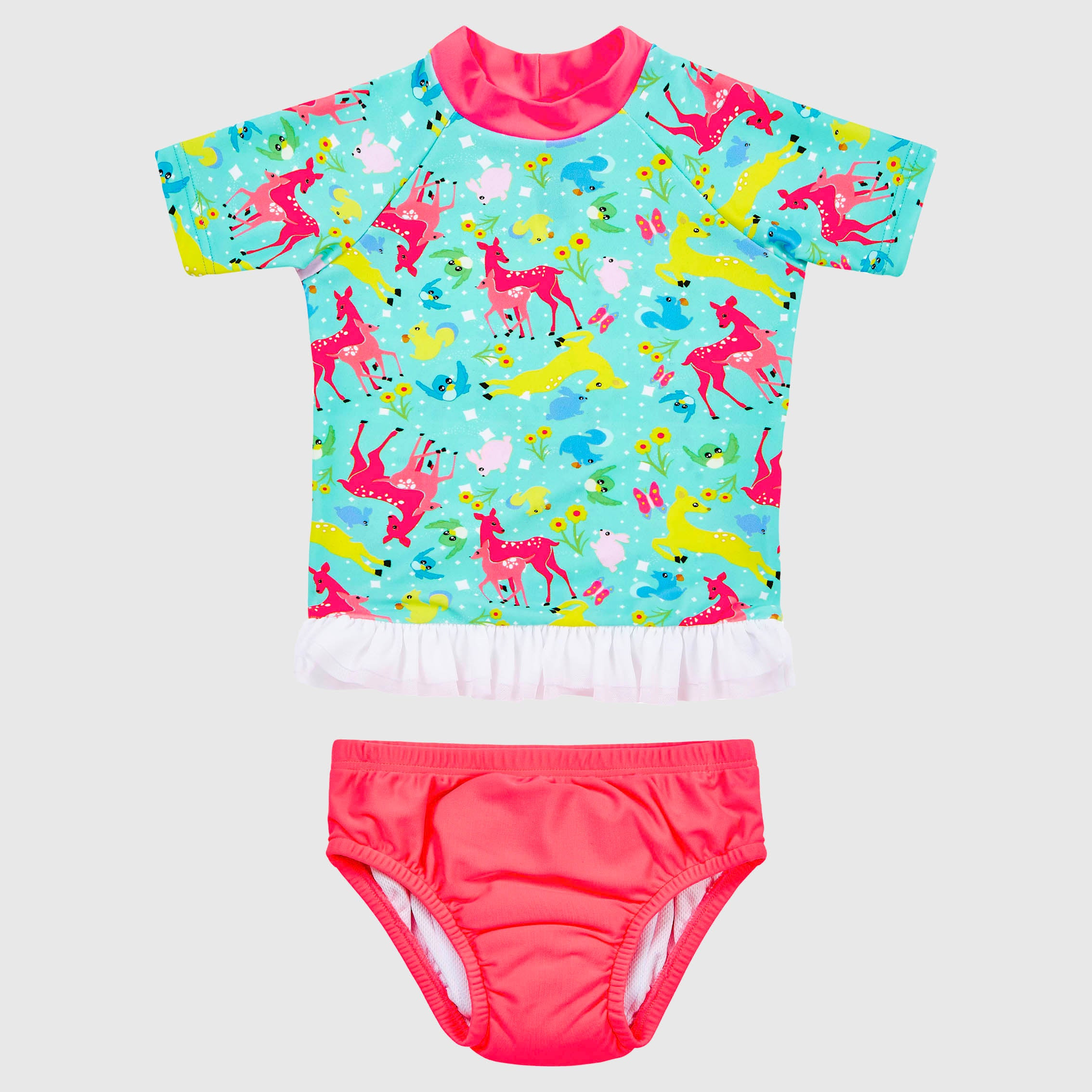 Forest Friends Tutu Rash Vest Set