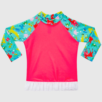 Forest Friends Long Sleeve Tutu Rash Vest