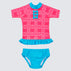Raspberry Daze Frill Rash Vest Set