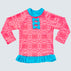 Raspberry Daze Long Sleeve Frill Rash Vest