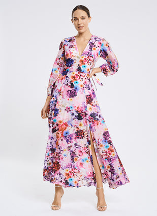 Peony Full Bloom Plunge Dress