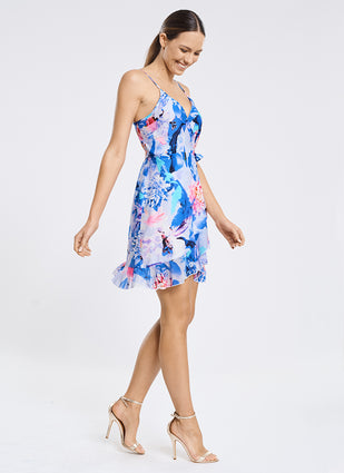 Magnolia Frill Wrap Dress