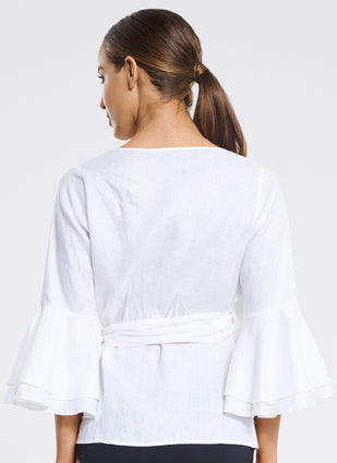 Serenity Flute Sleeve Blouse