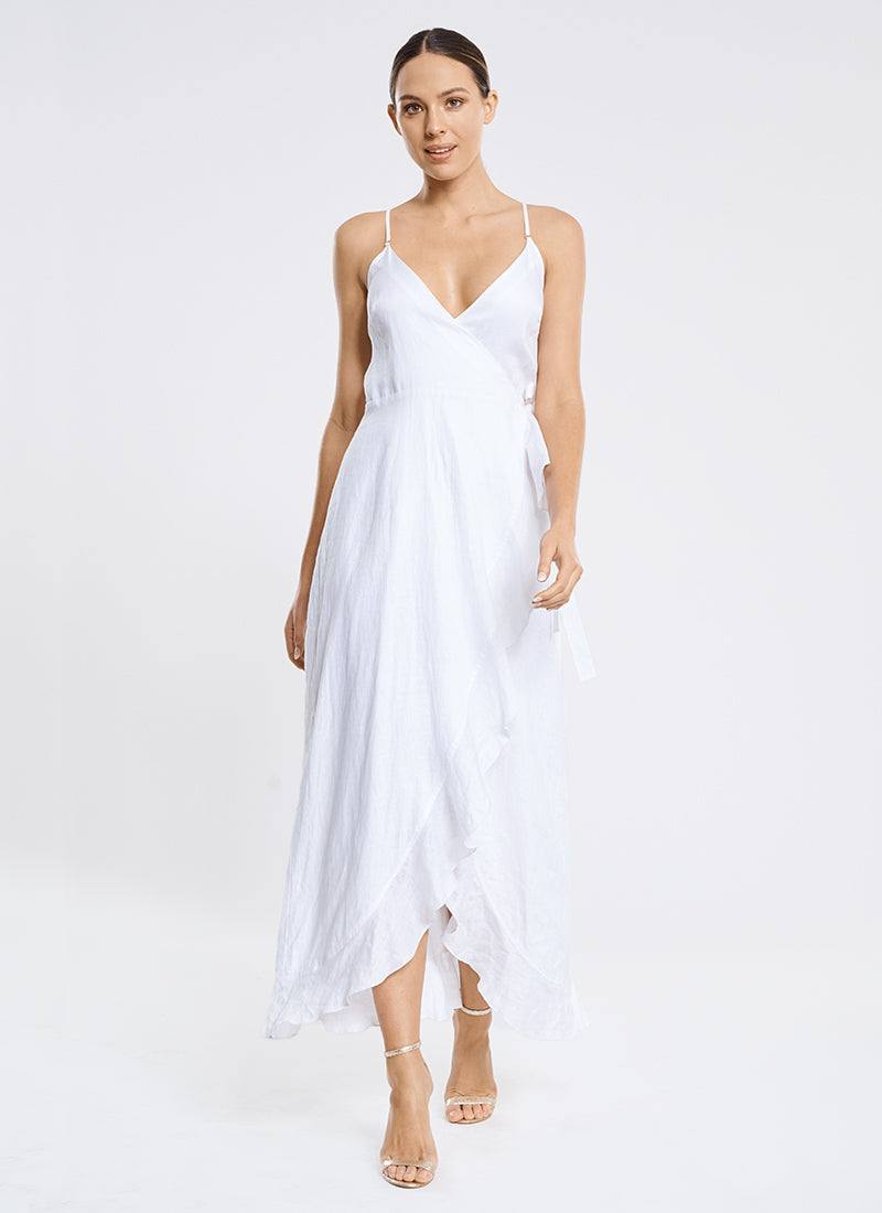 Serenity Frill Wrap Maxi Dress