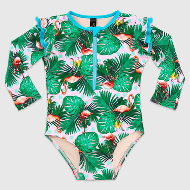 Paradiso Flutter Long Sleeve One Piece