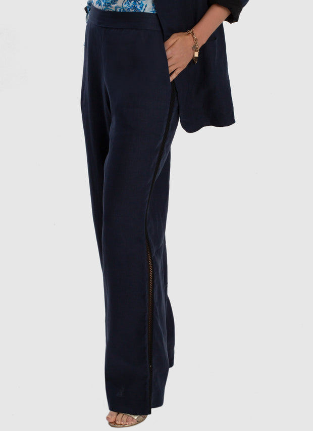 Serenity Relaxed Linen Pant - Admiral