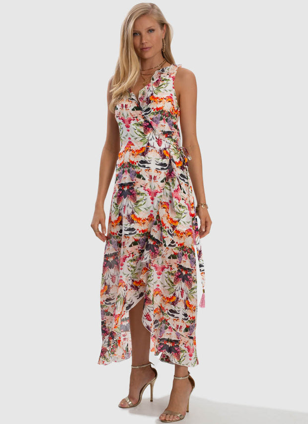 Delilah Frill Wrap Dress
