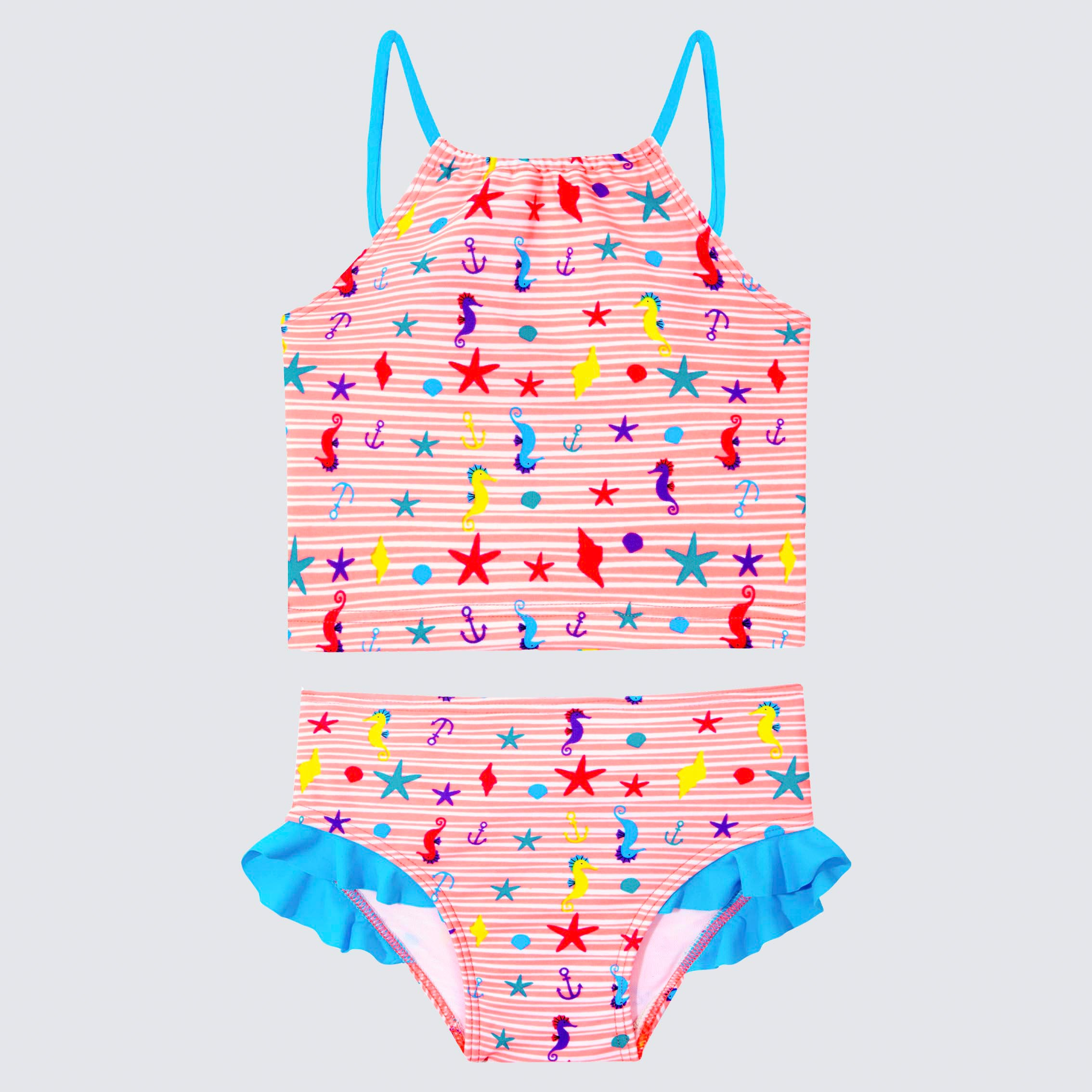Cupid Girl Beach Buddies Frill Tankini Set
