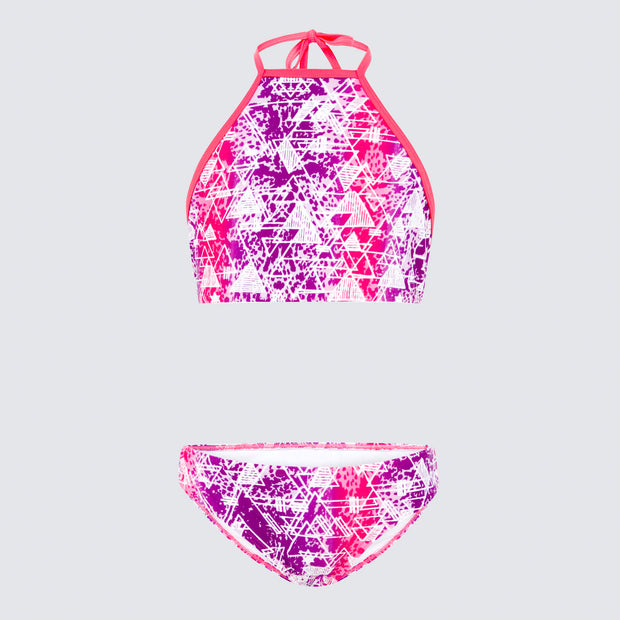 Cupid Girl Bermuda High Neck Bikini Set