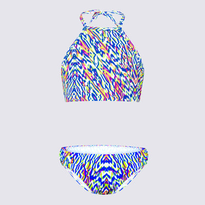 Cupid Girl Neon Tribe High Neck Bikini Set