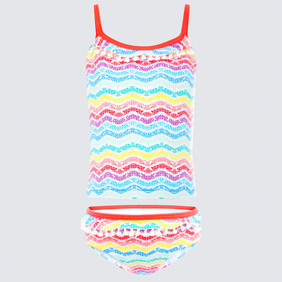 Cupid Girl Summer Delight Pompom Tankini Set