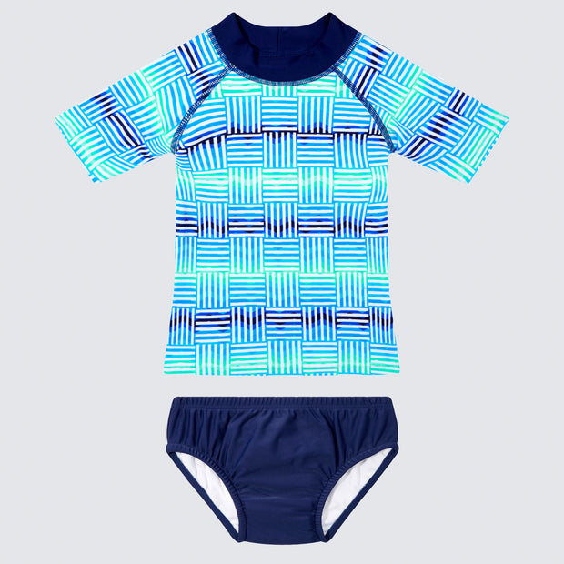 WaveRat Tidal Wave Rashie and Swim Nappy Set