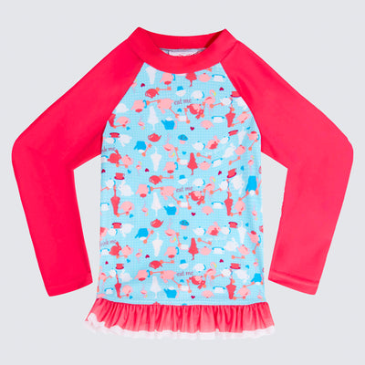 Cupid Girl Tea Party Long Sleeve Tutu Rashie