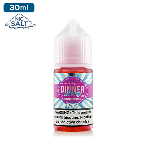 Dinner Lady Salts Nicotine - BlackBerry Crumble Eliquid - 50mg - 30ml bottle - UK