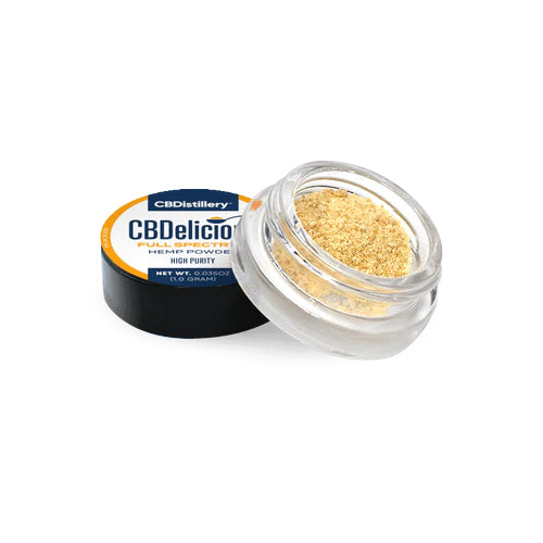 CBDistillery Full Spectrum CBD Powder - CBDelicious Formulation Powder - 1 gram