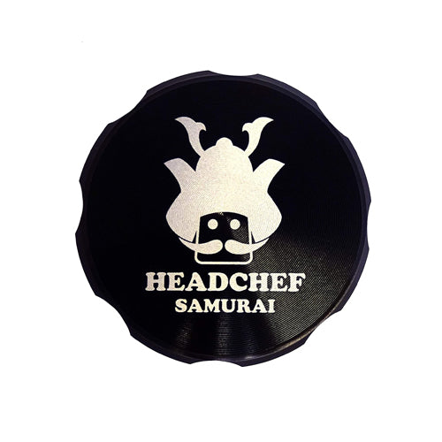 Headchef Samurai High Quality Metal Grinder with Sifter Scraper 4 Piece 55mm UK