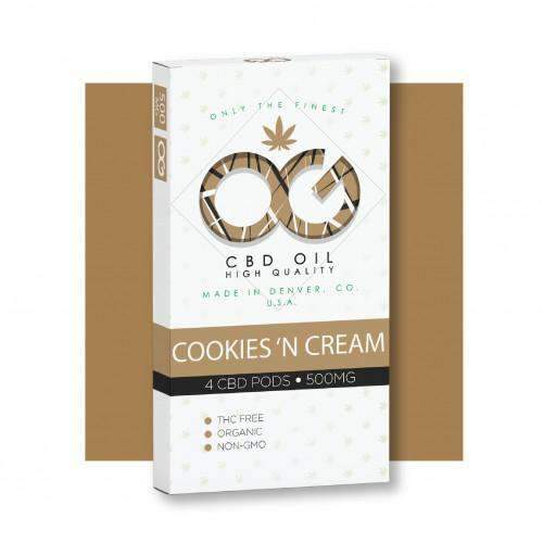OG CBD Cookies 'N Cream Pods (Pack of 4) – UK