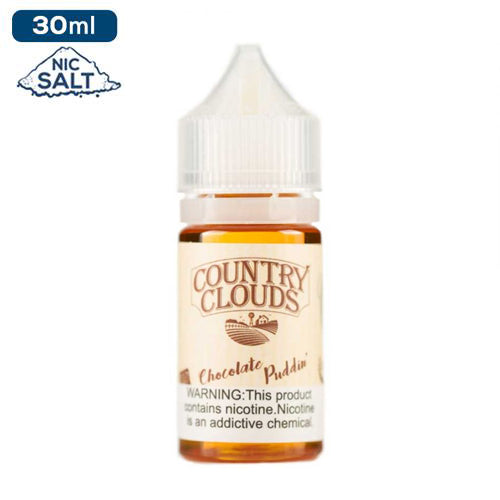 Country Clouds Salt Nic - Chocolate Puddin' Pie e-liquid - 50mg - 30ml bottle - UK