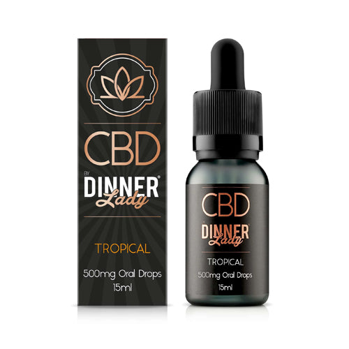 Dinner Lady CBD Tropical Oral Drops / Tinctures - 30ml - 500mg