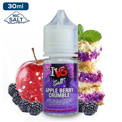 IVG Premium Salts - Apple Berry Crumble Eliquid - 50mg - 30ml bottle - UK
