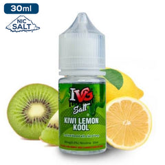 IVG Premium Salts - Kiwi Lemon Kool Eliquid - 50mg - 30ml bottle - UK