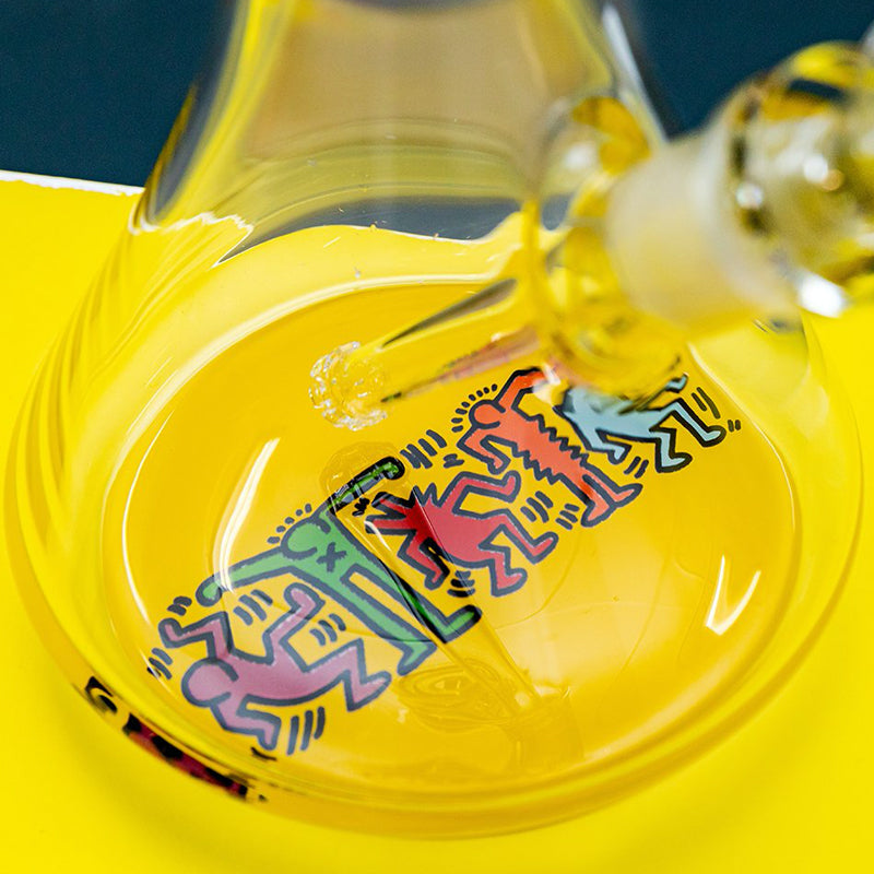 Glass Water Pipe by Keith Haring Iconic Artwork