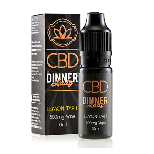 Lemon Tart 500mg CBD E Liquid By Dinner Lady 10ml
