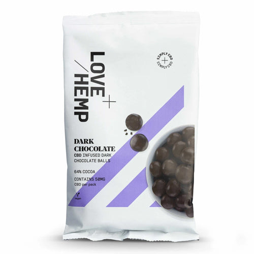 Love Hemp CBD Dark Chocolate Balls  - 50mg Per Bag