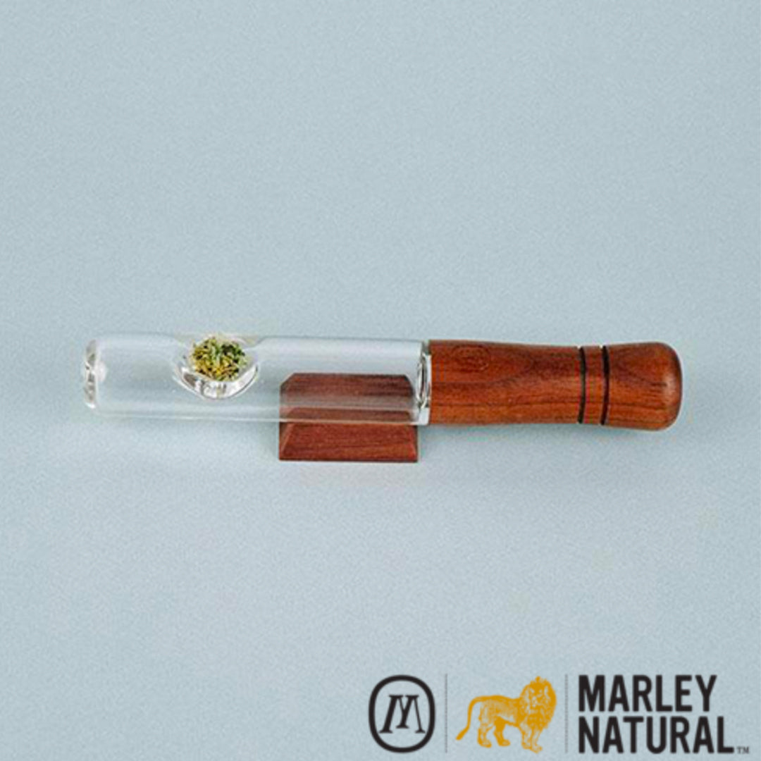 Marley Natural Glass & Walnut Steamroller