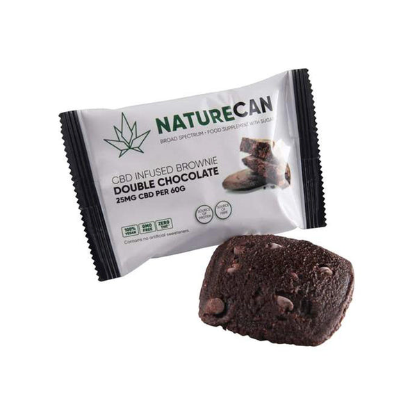 Naturecan CBD 25mg Infused Cookie 60g - Chocolate CBD Brownie