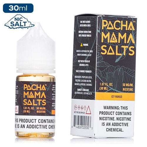 Pachamama Salts - Icy Mango eliquid - 50mg Salt Nic - 30ml bottle - UK