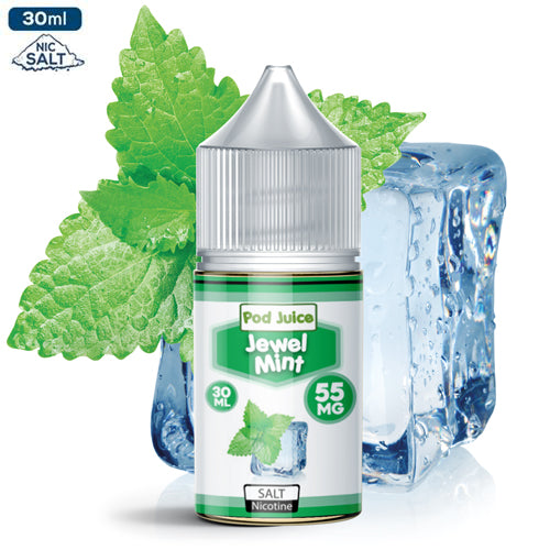 Pod Juice Salt Nic - Mint Eliquid - 55mg - 30ml bottle - UK