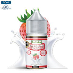 Pod Juice Salt Nic - Strawberry Dream Eliquid - 55mg - 30ml bottle - UK