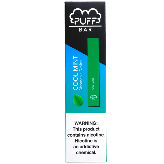 Puff Bar Cool Mint Pod Device 1.3ml Disposable 5% (50mg) - UK