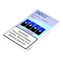 Sea100 Pods for JUUL - Blueberry Menthol 5% - Juul Compatible Pods UK