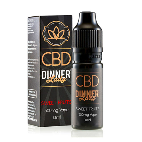 Sweet Fruits 500mg CBD E Liquid By Dinner Lady 10ml