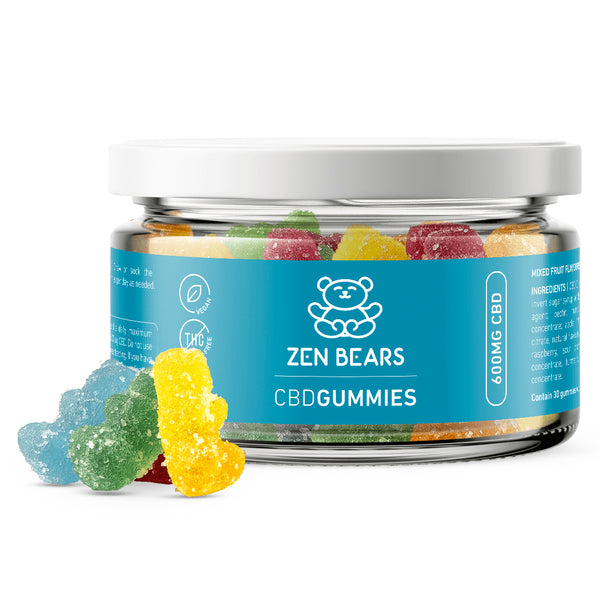 Zen Bears 20mg CBD Vegan Gummies - 600mg Per Jar